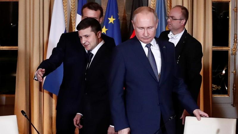 Các lãnh đạo Bộ tứ Normandy – Pháp, Đức, Nga, Ukraine gặp nhau tại Paris (Pháp) ngày 9-12. Ảnh: REUTERS