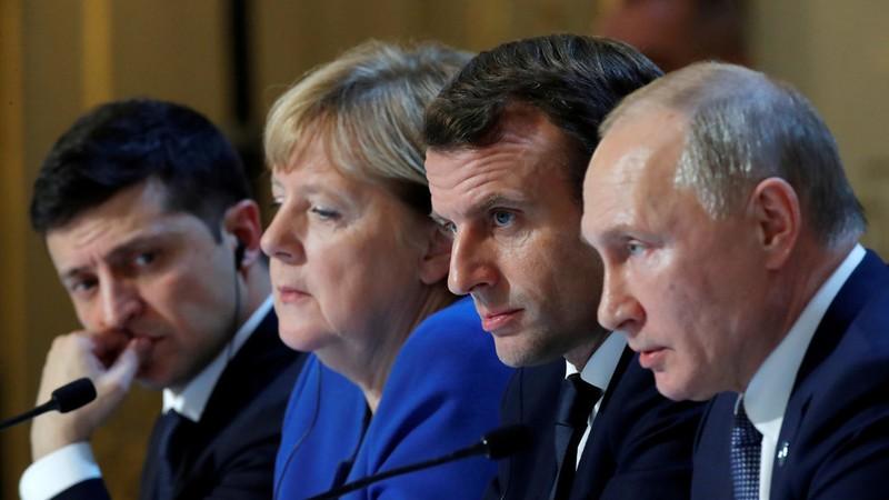 Các lãnh đạo Bộ tứ Normandy – Pháp, Đức, Nga, Ukraine tại Paris (Pháp) ngày 9-12. Ảnh: REUTERS