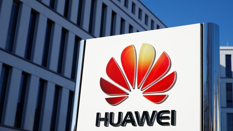 Logo Huawei tại trụ sở chính ở Duesseldorf (Đức). Ảnh: REUTERS