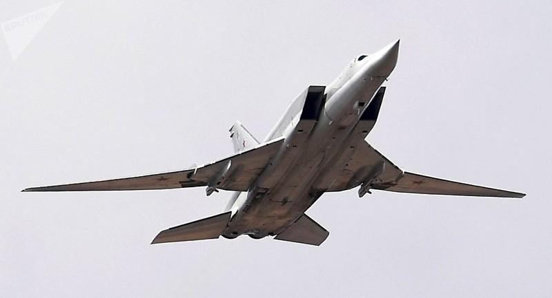 Máy bay ném bom siêu thanh tầm xa Tu-22M3 của Nga. Ảnh: SPUTNIK