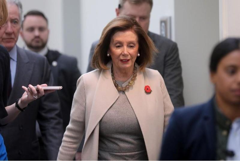Chủ tịch Quốc hội Mỹ Nancy Pelosi tại trụ sở Quốc hội ngày 17-12. Ảnh: REUTERS