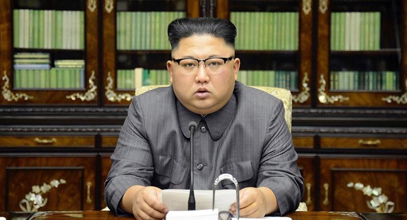 Lãnh đạo Triều Tiên Kim Jong-un tham gia kỳ họp toàn thể thứ 5 của Ủy ban Trung ương đảng Lao động Triều Tiên. Ảnh: KCNA công bố ngày 31-12