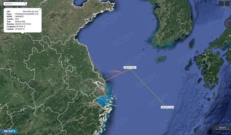 Tàu khu trục Mỹ xuất hiện ngoài bờ biển Thượng Hải - ảnh 1