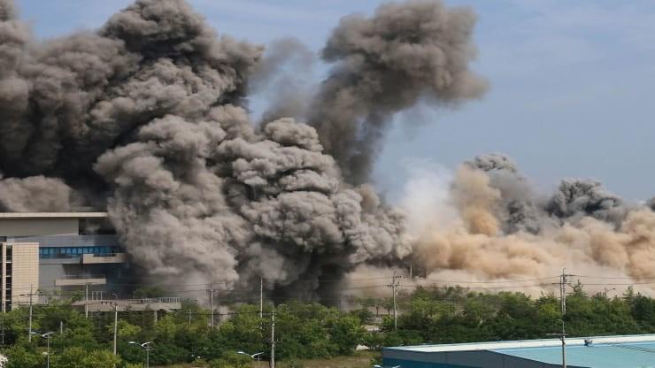 Triều Tiên công bố ảnh cho nổ văn phòng liên lạc liên Triều - ảnh 4