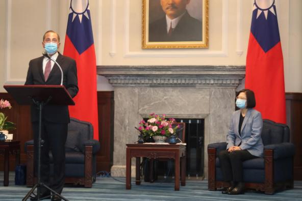 Bộ trưởng Mỹ gặp lãnh đạo Đài Loan Thái Anh Văn - ảnh 1