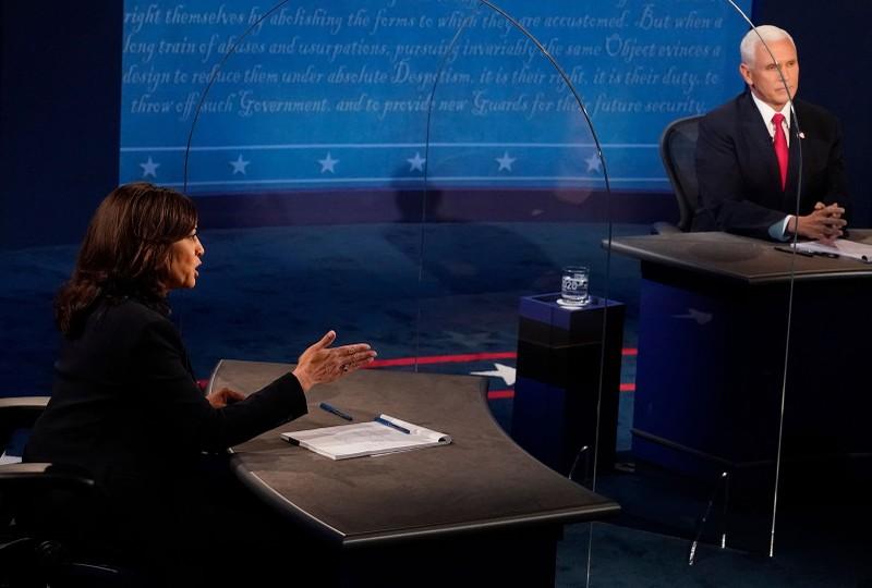 Tranh luận: Phân tích tấm kiếng ngăn ông Pence và bà Harris  - ảnh 2