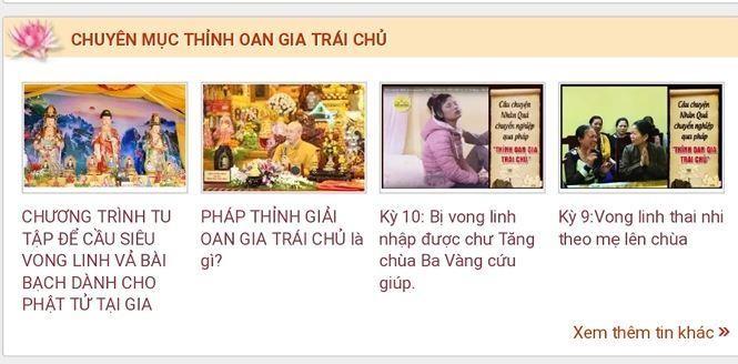 Dừng hoạt động các trang web trái phép của chùa Ba Vàng - ảnh 1