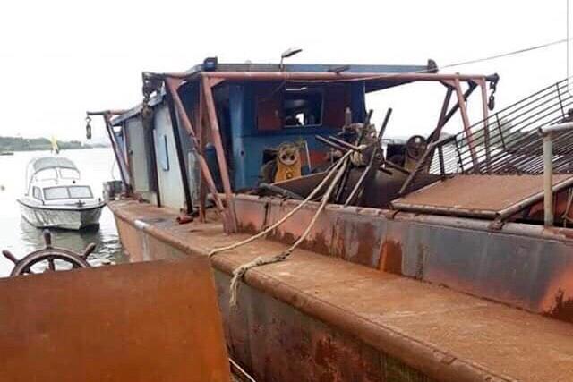 Hy hữu: 2 người trộm tàu vỏ sắt 200 tấn mang về Hải Phòng bán - ảnh 2