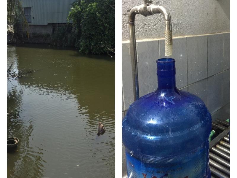 Thu hồi nước đóng bình Vimass làm từ nguồn nước mương - ảnh 1