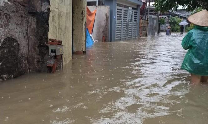 Mưa lớn gây ngập cục bộ nhiều nơi ở Quảng Ninh  - ảnh 4