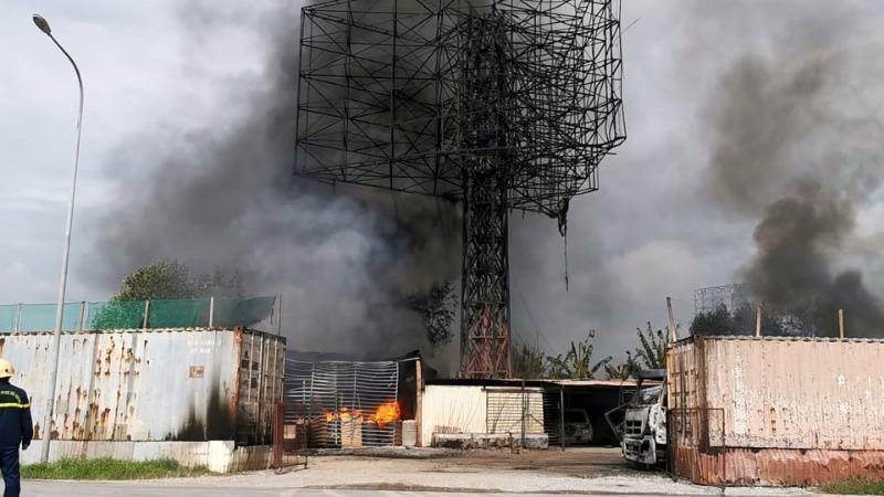 Kho xăng dầu ở Hải Phòng bị cháy xây trái phép - ảnh 1