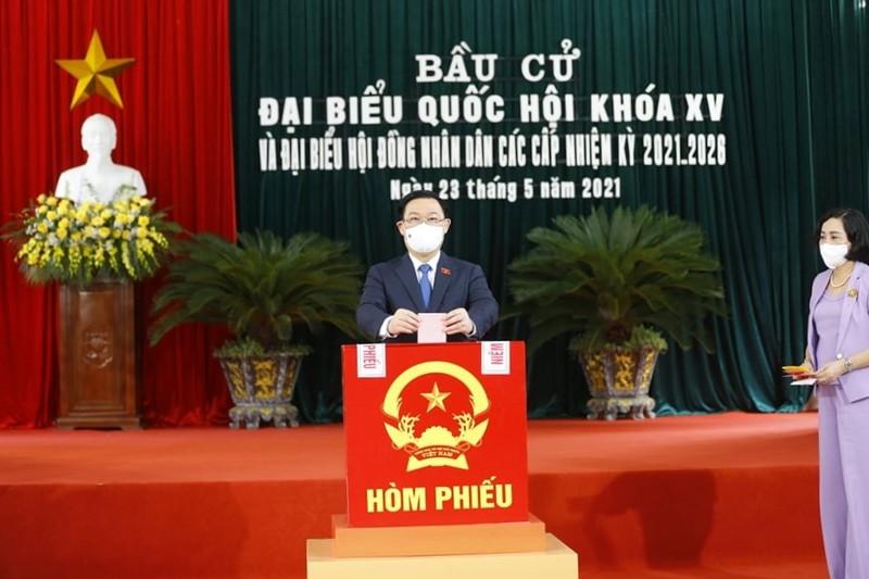 Chủ tịch Quốc hội Vương Đình Huệ bỏ phiếu bầu cử tại Hải Phòng - ảnh 2