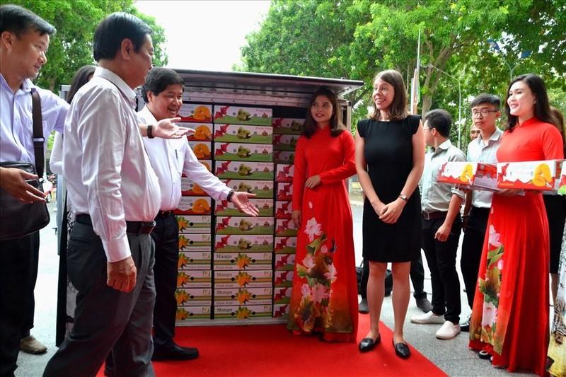 8 tấn xoài đầu tiên của Việt sang Mỹ - ảnh 1