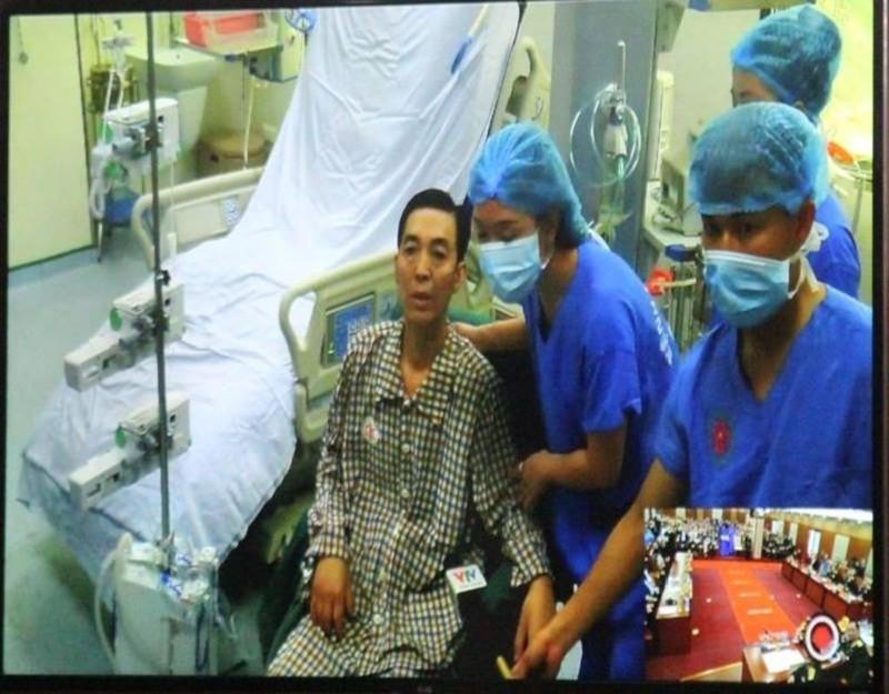 Ông Trần Ngọc Hanh, 53 tuổi, người được ghép phổi hiện đã hồi phục rất tốt.