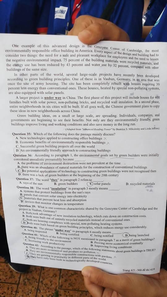 Đề thi tiếng Anh dễ thở với... học sinh chuyên Anh - ảnh 6