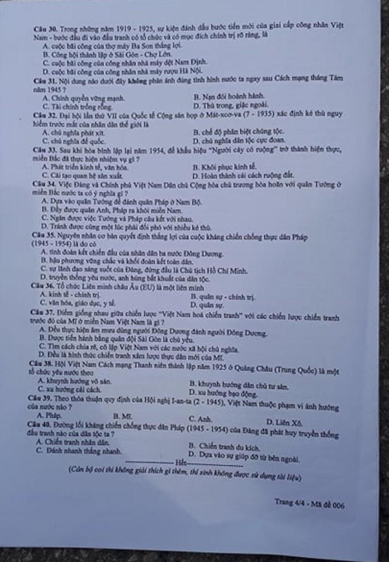 Đề thi Lịch sử tuyển sinh 10 Hà Nội: Dễ có mưa điểm 10! - ảnh 2