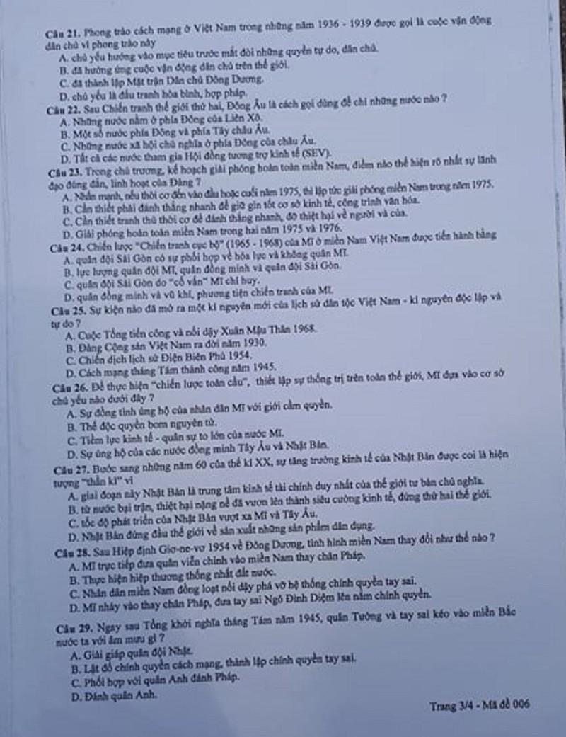 Đề thi Lịch sử tuyển sinh 10 Hà Nội: Dễ có mưa điểm 10! - ảnh 4