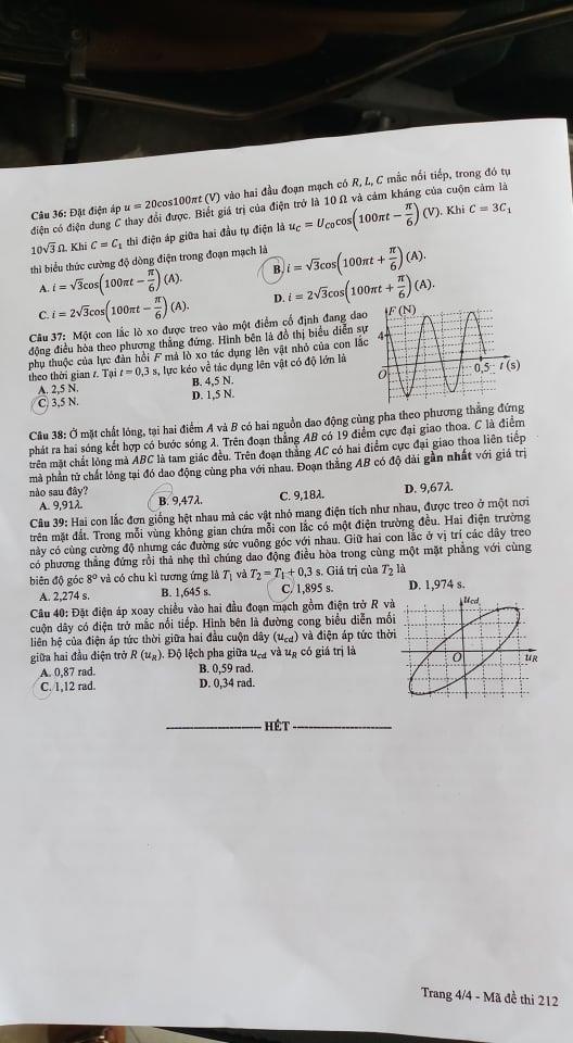 Đề thi và gợi ý môn Vật lý kỳ thi THPT Quốc gia 2019 - ảnh 4
