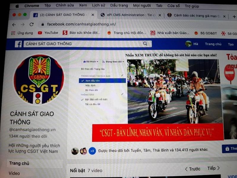 Cục CSGT Bộ Công an bị mạo danh - ảnh 1