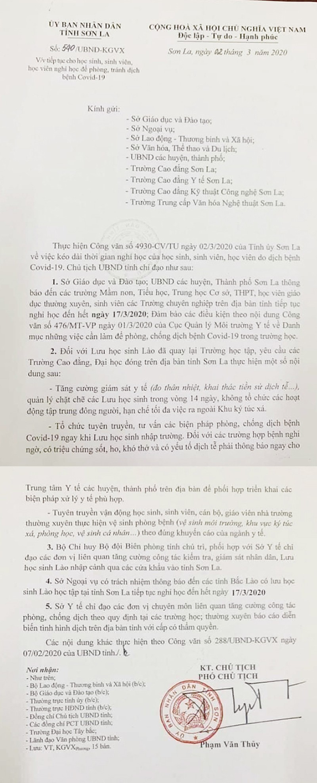 5 SV có biểu hiện ho sốt, tỉnh Sơn La cho HS nghỉ thêm 2 tuần - ảnh 1