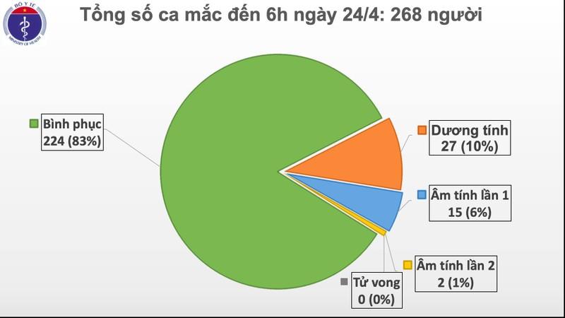 Dịch COVID-19: Ngày 24-4, Việt Nam đón nhận nhiều tin vui  - ảnh 1