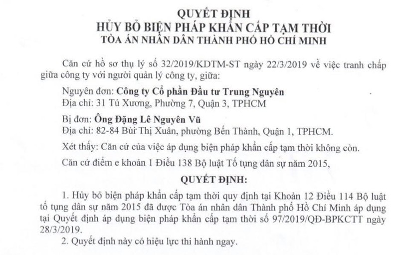 TAND TP.HCM chấp nhận khiếu nại của ông Đặng Lê Nguyễn Vũ - ảnh 1