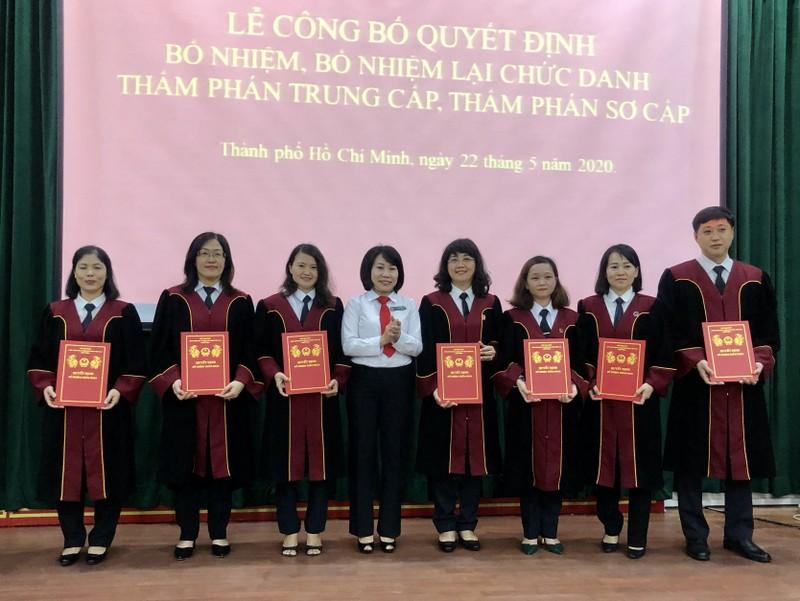 Bổ nhiệm nhiều thẩm phán mới tại TP.HCM - ảnh 1