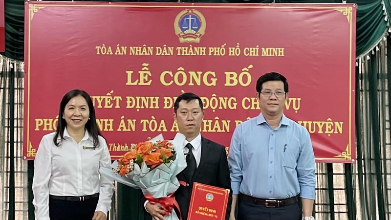 Nhân sự mới tòa án các quận tại TP.HCM - ảnh 1