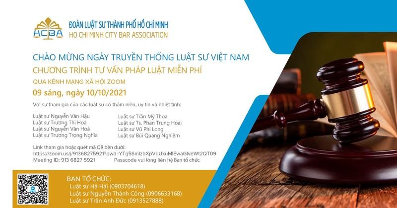Đoàn Luật sư TP.HCM tổ chức tư vấn pháp luật miễn phí cho người dân - ảnh 1