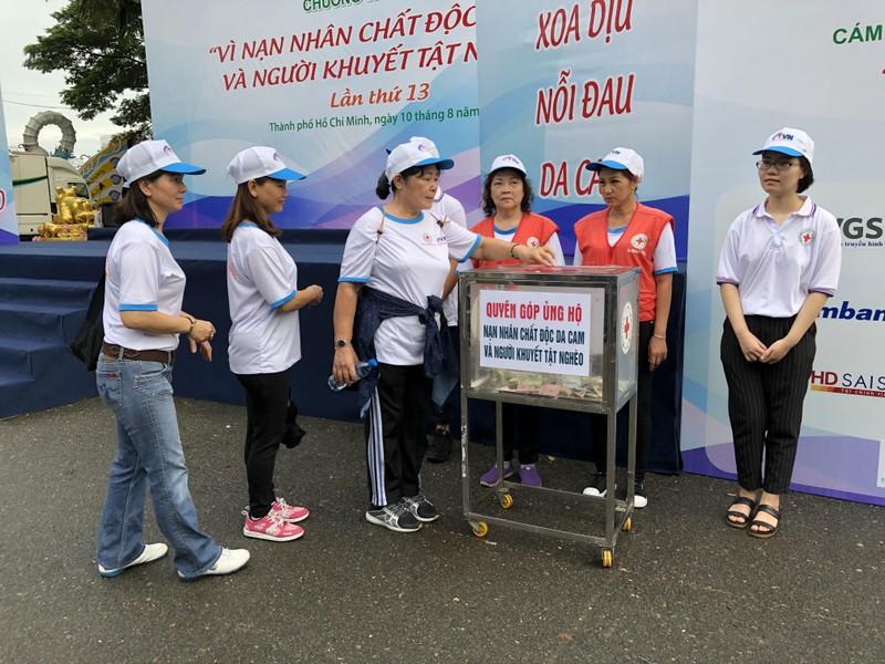 Hơn 5.000 người đi bộ vì nạn nhân chất độc da cam  - ảnh 3