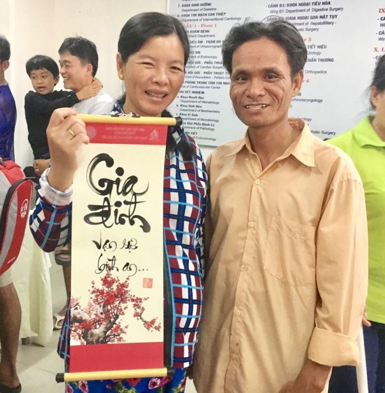 Nhiều bệnh nhân ở Chợ Rẫy gửi gắm mong ước qua thư pháp - ảnh 2