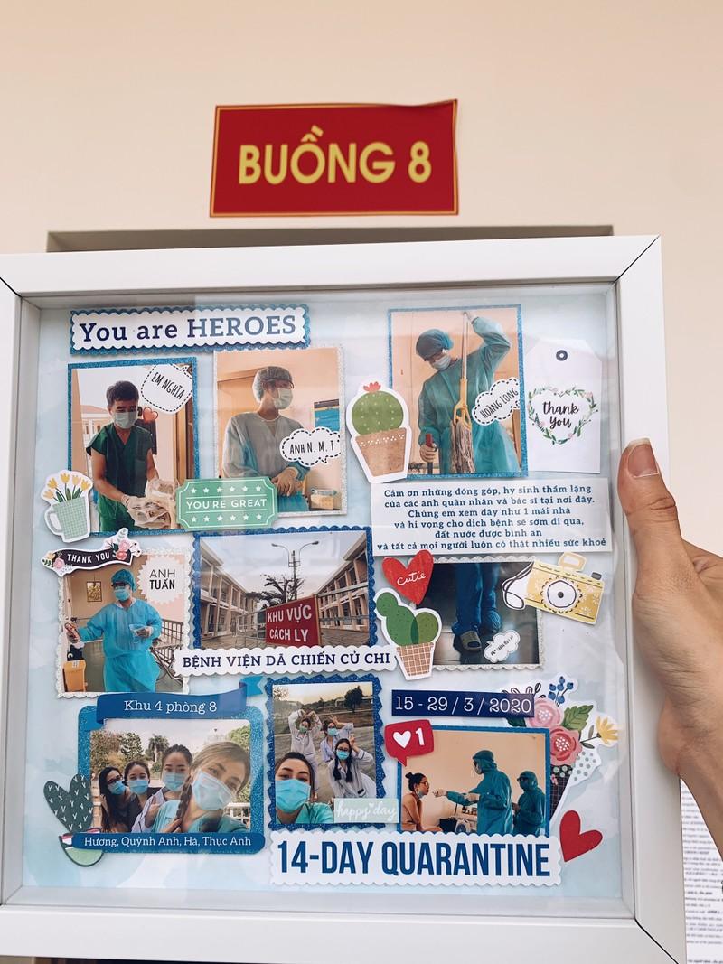 Món quà đặc biệt 4 du học sinh Anh tặng nhân viên khu cách ly - ảnh 1