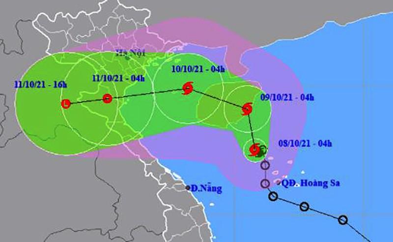 Áp thấp nhiệt đới đã mạnh lên thành cơn bão số 7 - ảnh 1