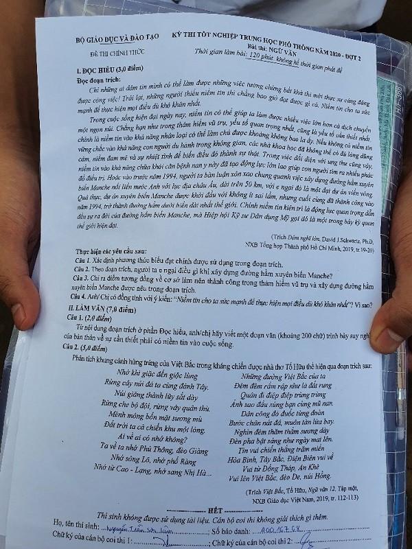 Đắk Lắk: Đề thi Ngữ văn dễ kiếm điểm cao - ảnh 2