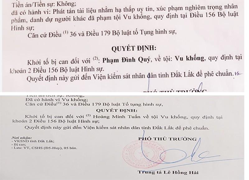 Ông Phạm Đình Quý bị công an Đắk Lắk khởi tố tội vu khống - ảnh 1