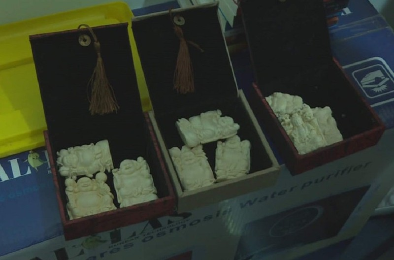 Cất giấu gần 700 sản phẩm trang sức từ ngà voi trong nhà - ảnh 1