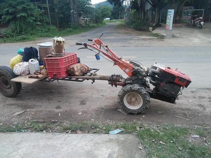 'Độ' máy xới thành xe cày, anh K'panh chở gia đình từ Lâm Đồng về Phú Yên - ảnh 2