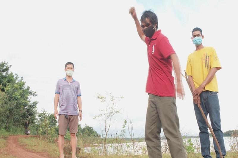 Thực nghiệm điều tra vụ án 'thi thể ở bờ hồ TP Buôn ma Thuột' - ảnh 1