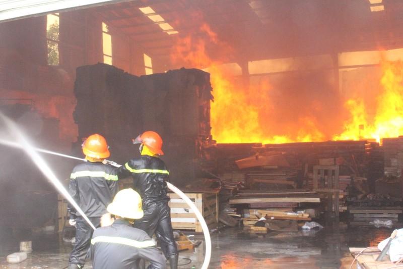 Đang cháy dữ dội công ty gỗ ở Bình Dương - ảnh 3