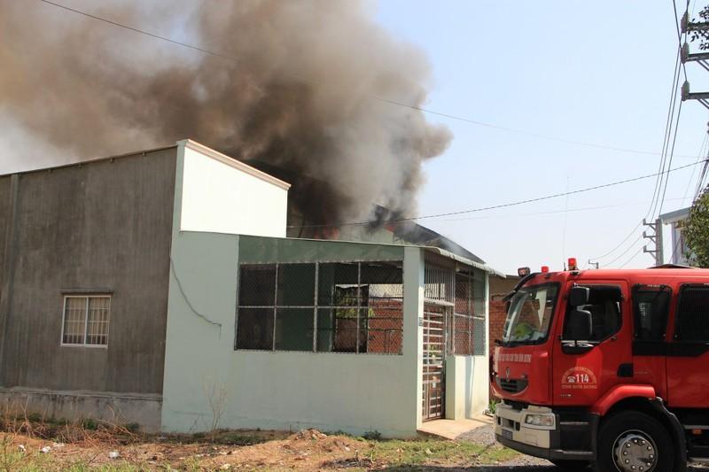 Cháy lớn xưởng sản xuất đồ gỗ ở Bình Dương - ảnh 3