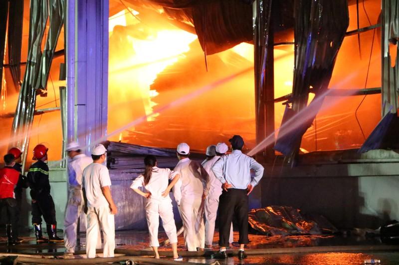 Bình Dương: Công ty sản xuất ghế nệm sofa vẫn cháy khủng khiếp - ảnh 9
