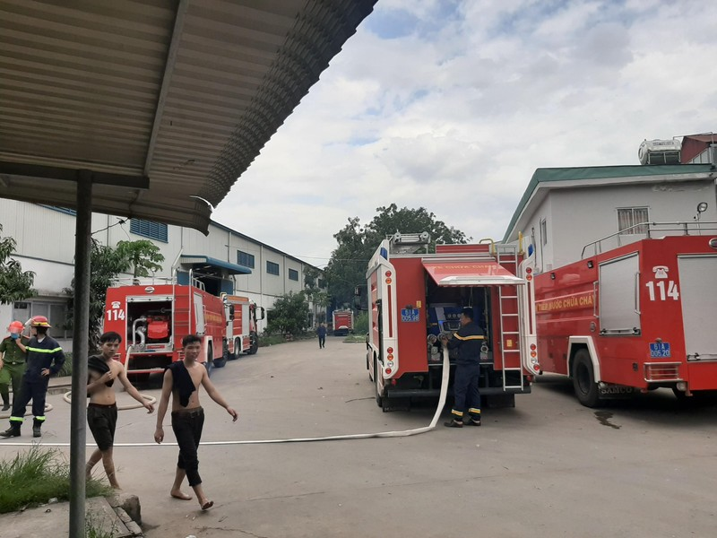 Cháy dữ dội công ty sản xuất nệm mút tại Bình Dương - ảnh 1