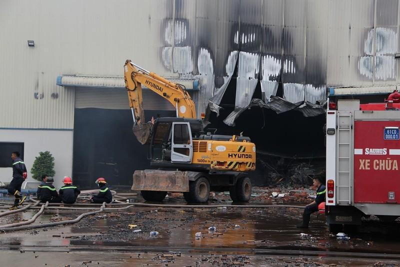 Công ty gỗ tại Bình Dương cháy dữ dội giữa mưa - ảnh 2