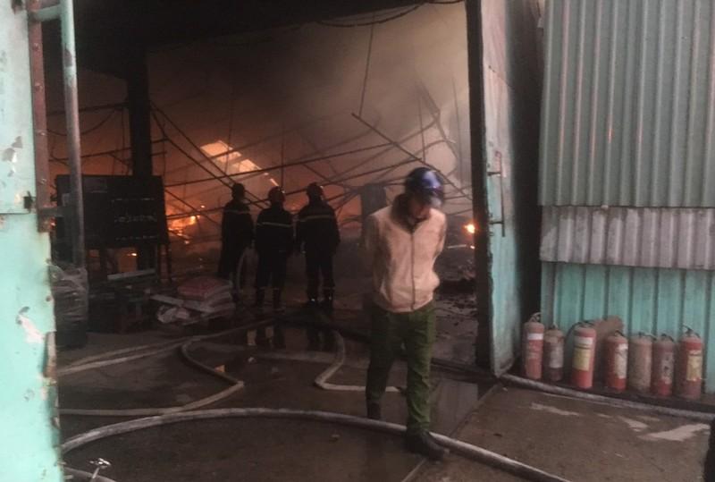 Công ty gỗ ở Bình Dương bị cháy rụi lúc rạng sáng - ảnh 1