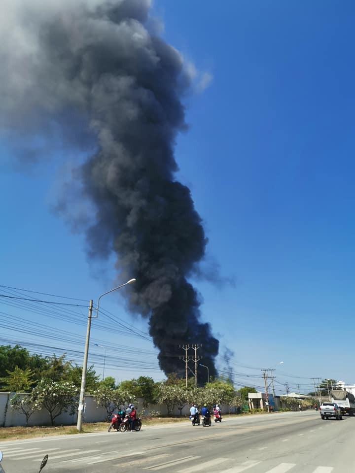 Hai công ty liền nhau ở Bình Dương cháy dữ dội - ảnh 1