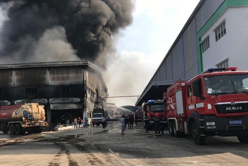 Bình Dương: Một công ty đang bốc cháy dữ dội - ảnh 12