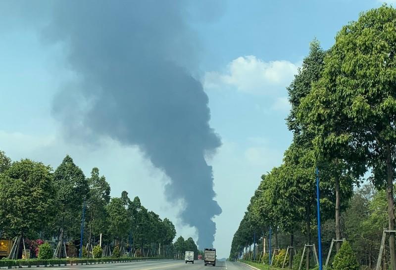 Bình Dương: Một công ty đang bốc cháy dữ dội - ảnh 1