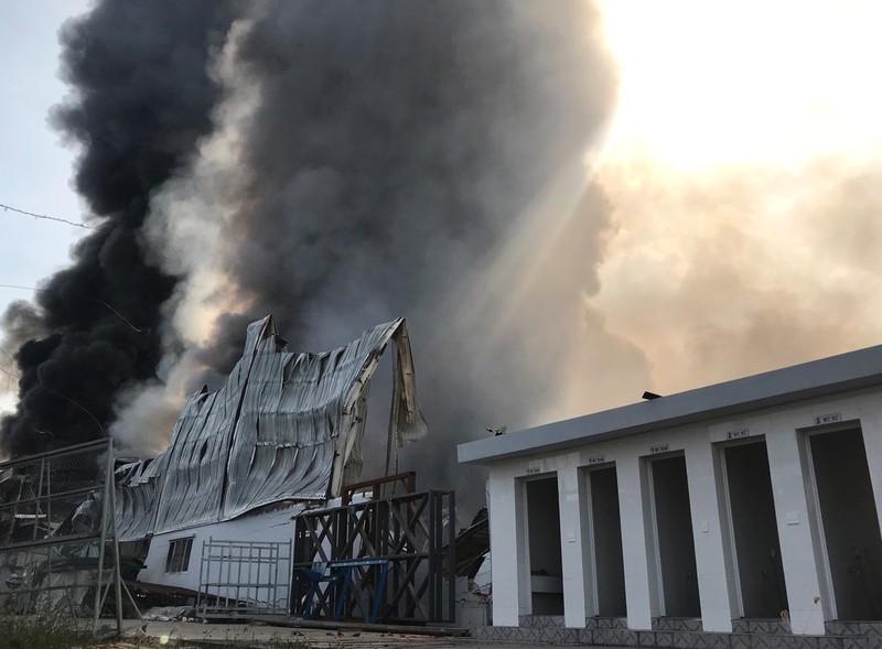 Bình Dương: Một công ty đang bốc cháy dữ dội - ảnh 5