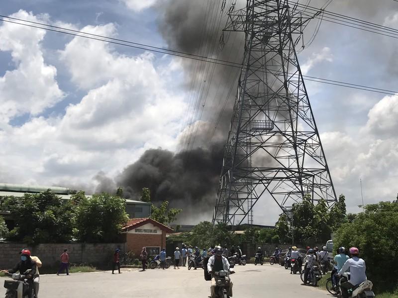 Công ty gỗ tại Bình Dương bốc cháy giữa trưa - ảnh 1