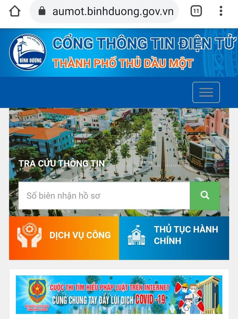 Ra mắt Cổng thông tin điện tử TP Thủ Dầu Một - ảnh 1